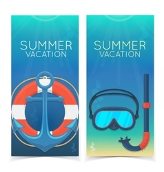 Swimming and diving banners vector