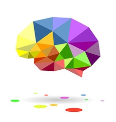 Brain colors drop circle vector