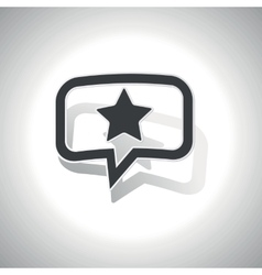 Curved star message icon vector