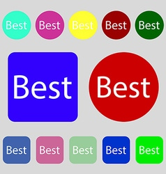 Best seller sign icon best-seller award symbol 12 vector