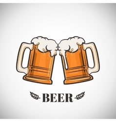 Cups of beer vector