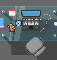 Working place of an office manager vector image