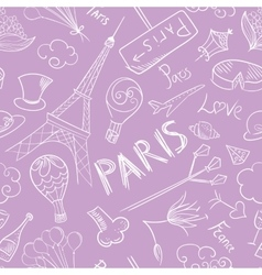 Paris Sketch Pattern vector image