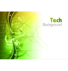 Background line wave light tech green vector