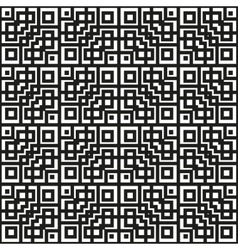 Geometrical pattern black and white color vector