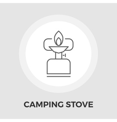 Camping stove flat icon vector
