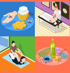 alternative medicine 2x2 design concept vector image