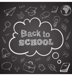 Back to school greeting text vector image vector image