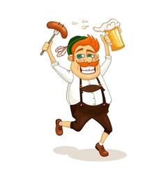 Beer party man vector