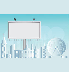 billboard advertisement commercial blank vector image