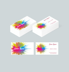 business card template 5 vector image vector image
