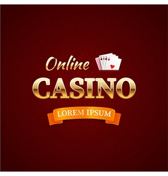 Casino logotype concept casino typography design vector image