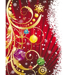 christmas new year card for design use vector image vector image