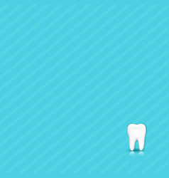dental blue background with tooth vector image vector image