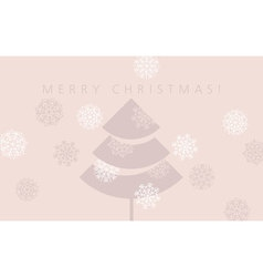 Elegant pale rosy color christmas background xmas vector