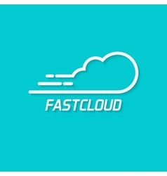 Fast cloud logo symbol concept of computing vector image