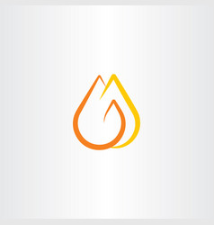 Fire logo flame symbol icon vector