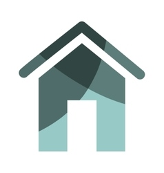 Home house silhouette icon vector