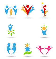 human icons and symbols vector image