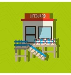 lifeguard tower design vector image