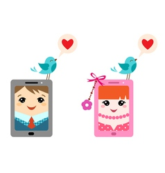 Love twitter vector image