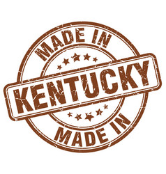 Made in kentucky brown grunge round stamp vector