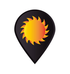 Mark icon pointer gps with sun vector