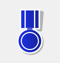 Medal sign new year bluish vector