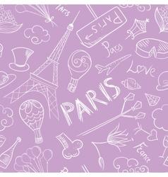Paris Sketch Pattern vector image vector image
