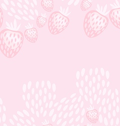 pink strawberry yoghurt seamless pattern vector image