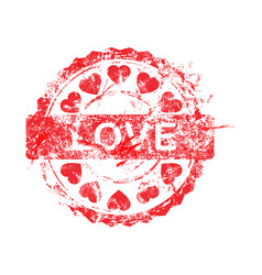 red color of grunge rubber stamp vector image