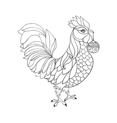 Rooster symbol of 2017 for Chinese calendar Thin vector image vector image