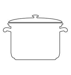 Saucepan black color path icon vector