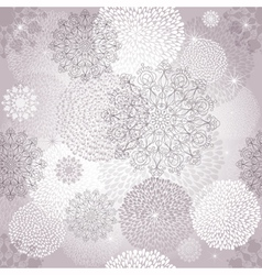 Seamless gentle christmas pattern vector image vector image