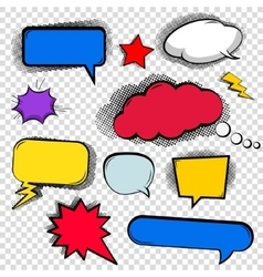 Set of bubbles cloud talk different shapes in vector image vector image