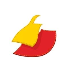 Sewing cloth cartoon icon vector image vector image