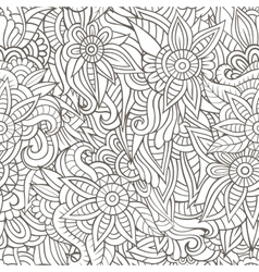 Sketchy doodles decorative floral outline vector