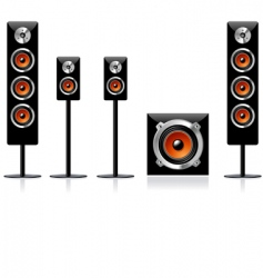 speakers vector image vector image