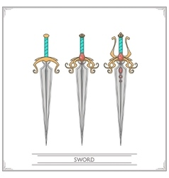 Spiky fantasy sword vector
