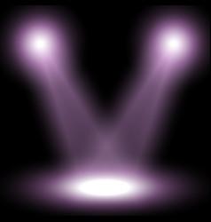 Spotlight light effect purple color vector
