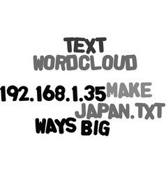 Ways to make big in japan text word cloud concept vector