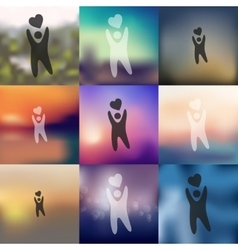 Happiness people icon on blurred background vector