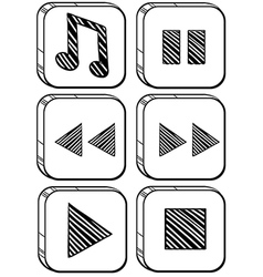 Six different buttons vector