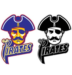 pirate head mascot vector image