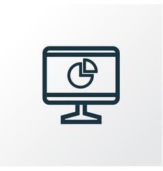 statistics outline symbol premium quality vector image