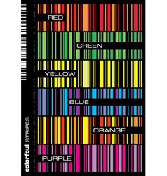 Stripe patterns set vector image