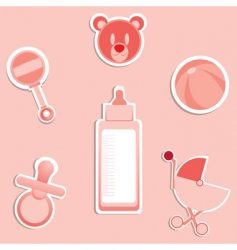 baby items vector image