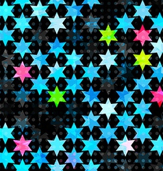 Abstract blue grunge star seamless vector
