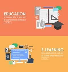 Education and elearning banner vector