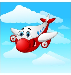 Cartoon plane character vector